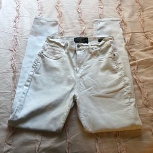 White Lucky Brand Olive Skinny Jeans